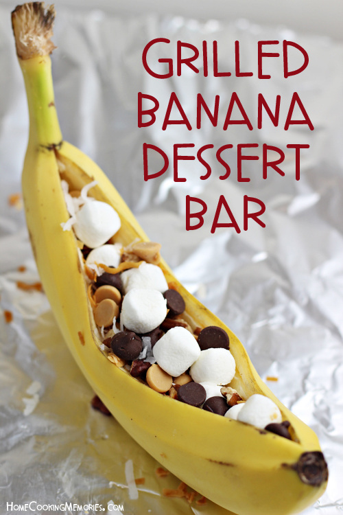 Grilled Banana Dessert Bar