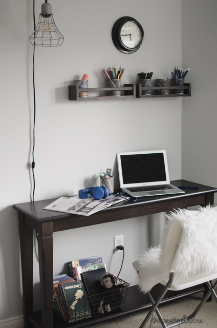 IKEA Spice Racks as Desk Organizers