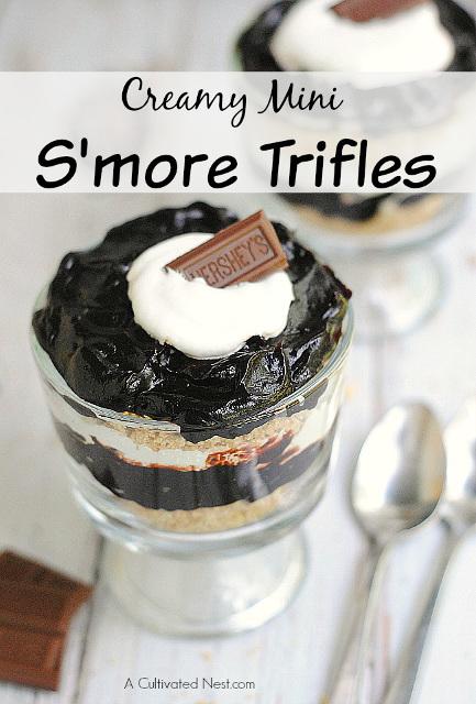 Creamy Mini S'more Trifles