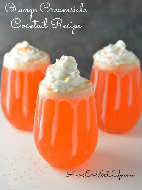 Orange Creamsicle Cocktail Recipe