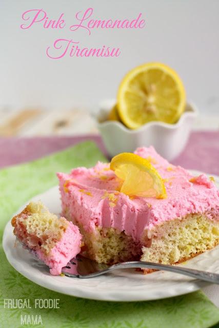 Pink Lemonade Tiramisu. Wonderful refreshing summer treat!