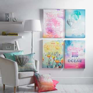 The Popsicle Trend, this summer's trending decor! Add a splash of colors to your home decor.