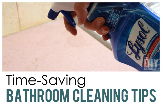 Time-Saving Bathroom Cleaning Tips! Tips for making bathroom cleaning quick!