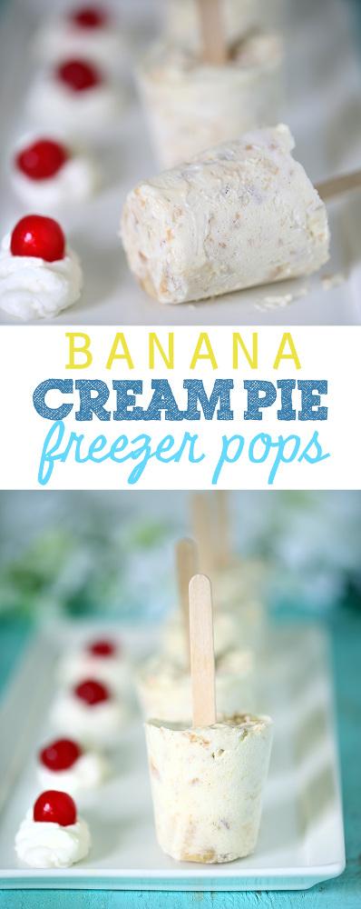 Simple Banana Cream Pie Freezer Pops