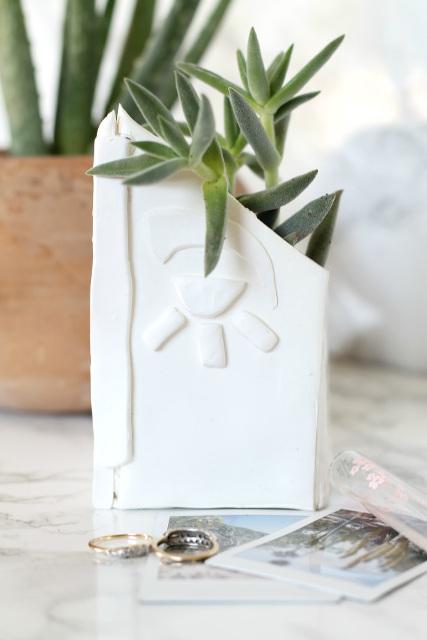 DIY Succulent Clay Planter