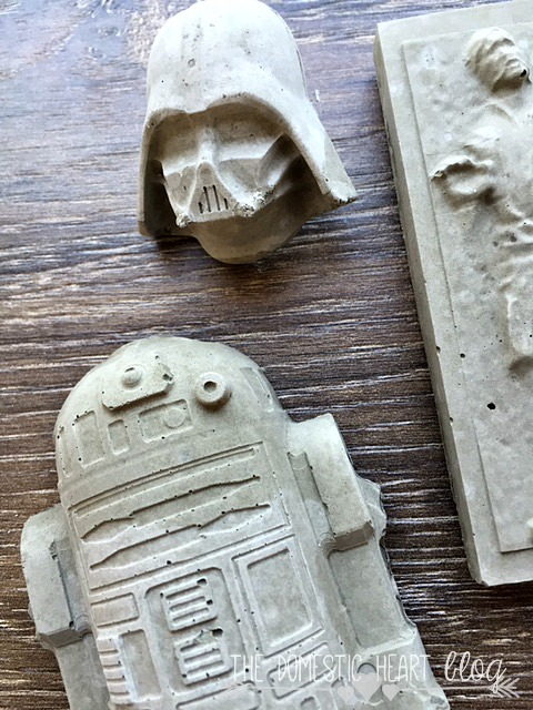 DIY Concrete StarWars Office Magnets and Pushpins