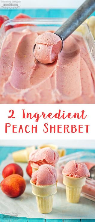 Easy 2 Ingredient Peach Sherbet Recipe