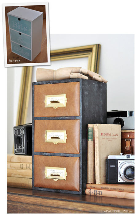 Leather Upholstered Mini Drawer Set Hack