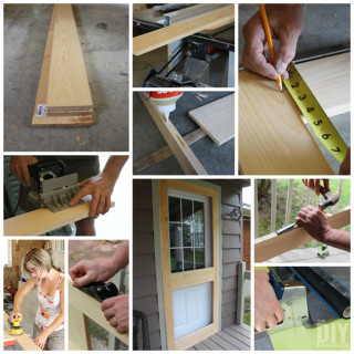 Learn how to build a screen door with this great step by step tutorial.