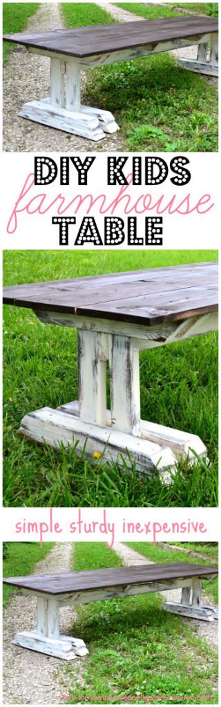 DIY Kids Farm Table