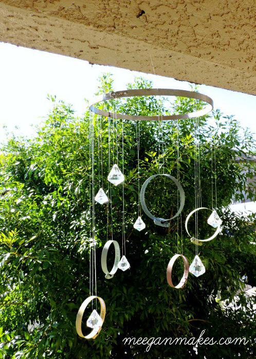 DIY Clamp & Crystal Sun Catcher