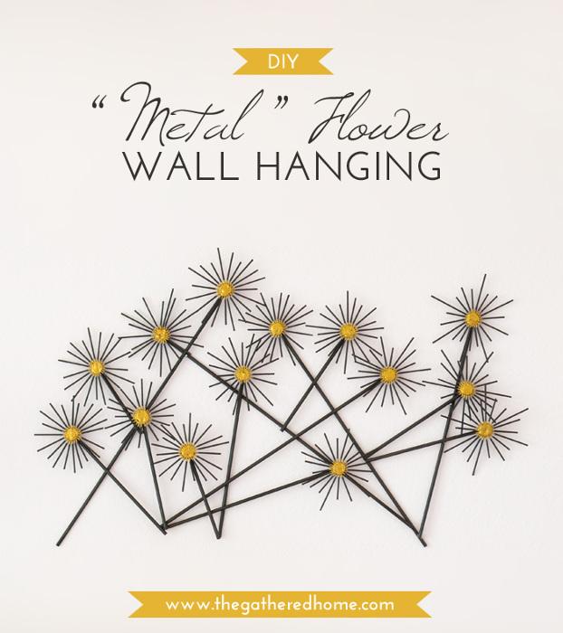 "DIY ""Metal"" Flower Wall Hanging"