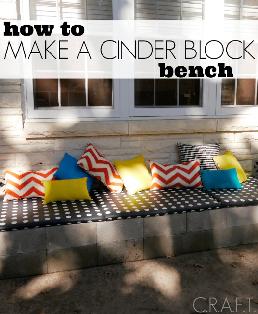 How to make a outdoor cinder block bench.