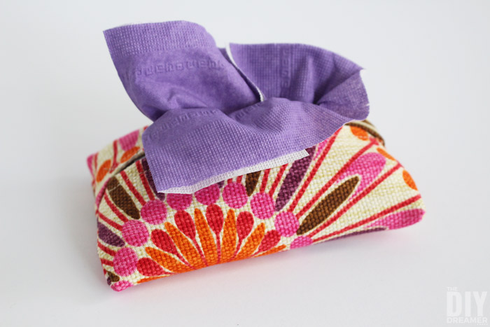 DIY Tissue Cozy for pocket size tissues