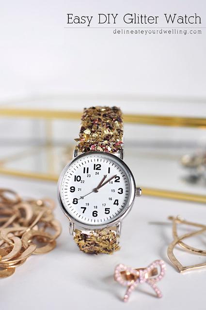 Easy DIY Glitter Watch