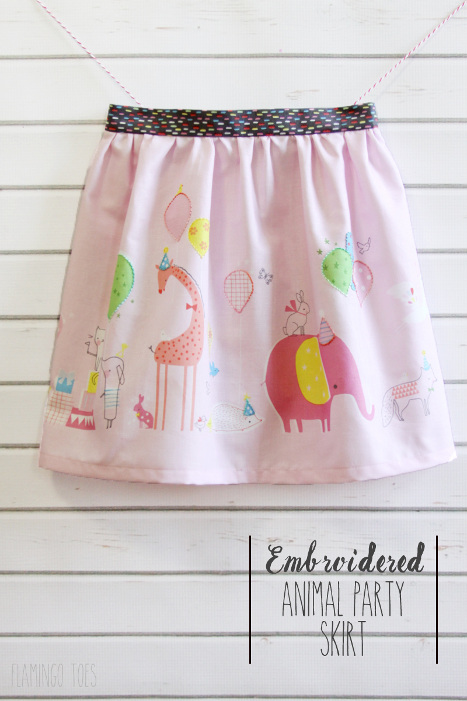 Embroidered Animal Party Skirt