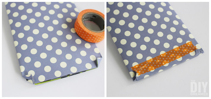 Use washi tape to hold folds in place