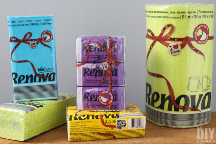 RENOVA paper products. A line of fun paper products!