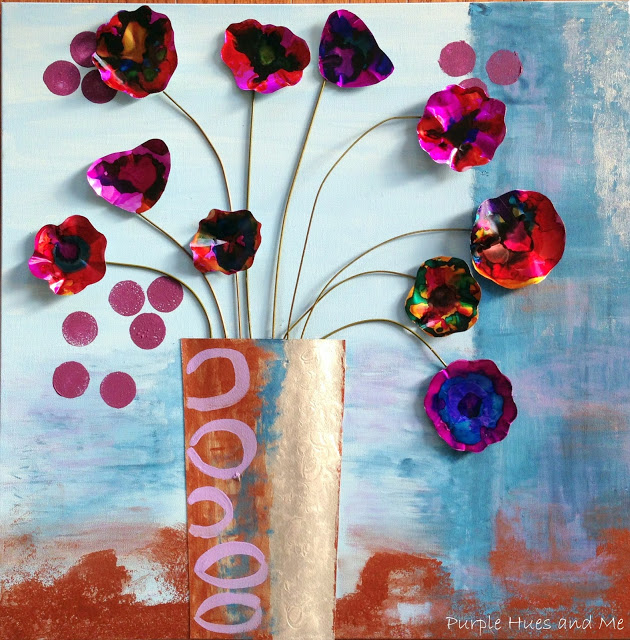 Upcycled Soda Can Flowers Wall Art