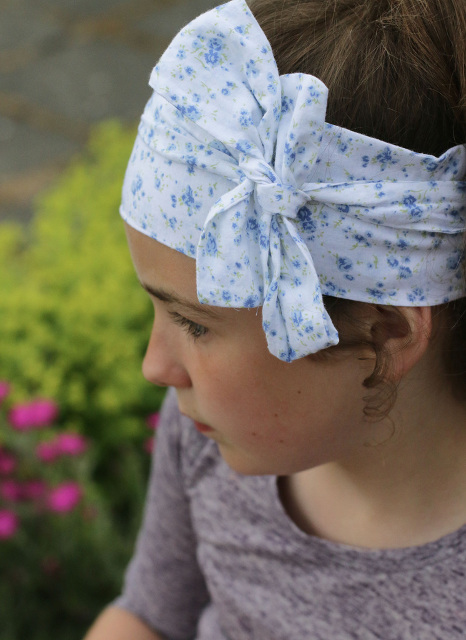 How to sew a head wrap.