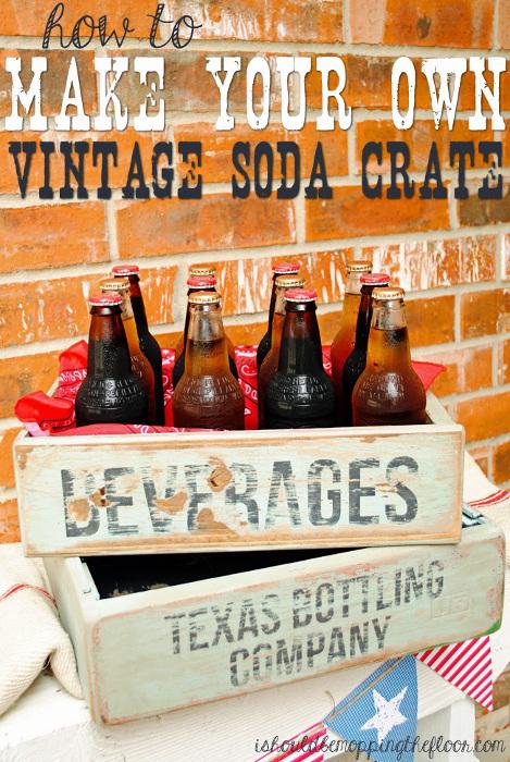 DIY Vintage Soda Crate Tutorial