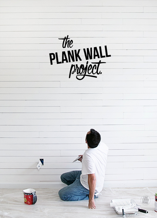 Beautiful plank wall. Learn how to make one too.
