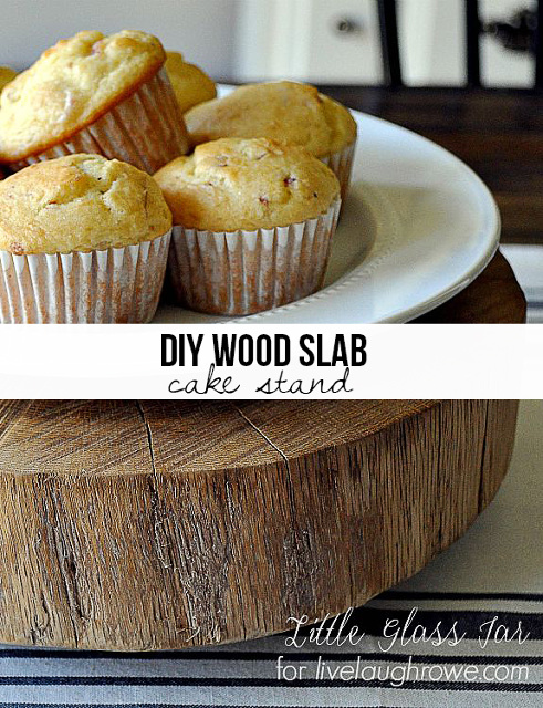 DIY Wood Slab Cake Stand