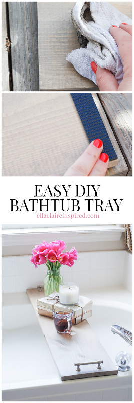 Easy DIY Bath Tray