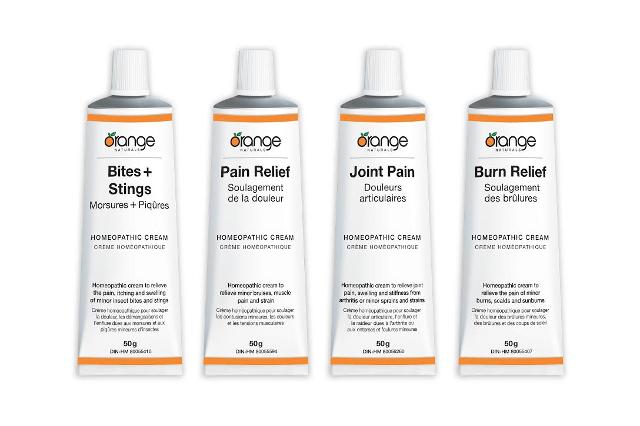 Orange Naturals Homeopathic Creams