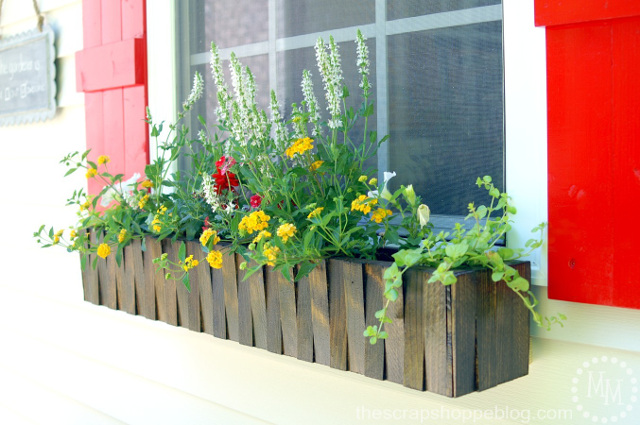 Window Flower Box with shims