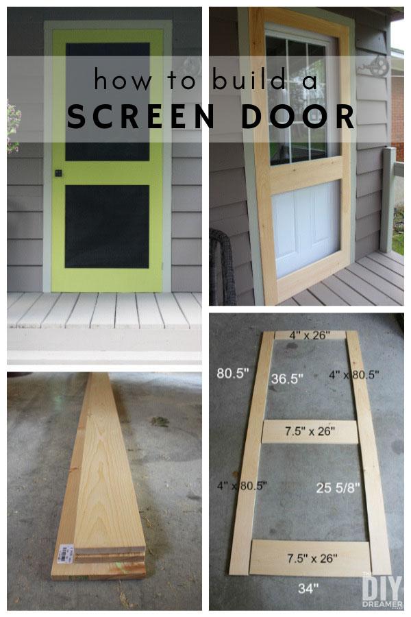 How to build a screen door. DIY Screen Door. Custom screen door design dimensions.