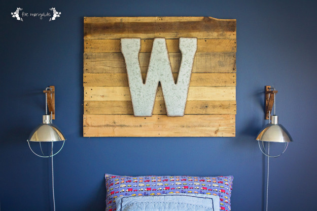 Rustic Industrial Boy's Room on a Budget.