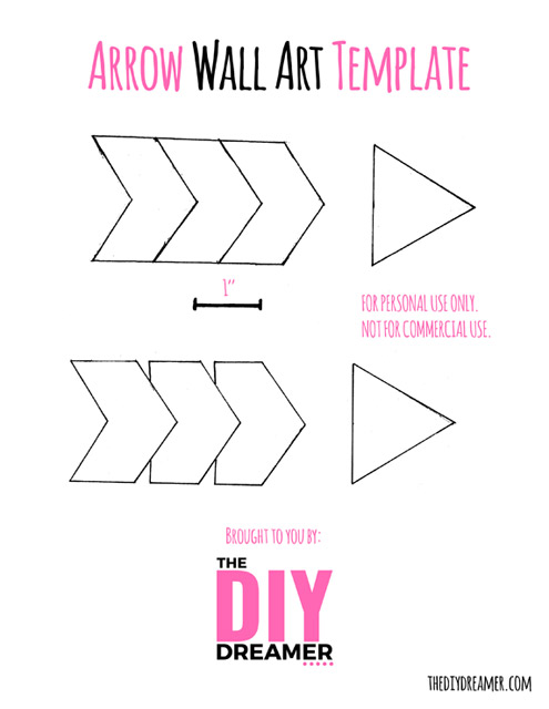 FREE Arrow Wall Art Printable Template. Use this template to make wood arrows! Beautiful Wall Art!