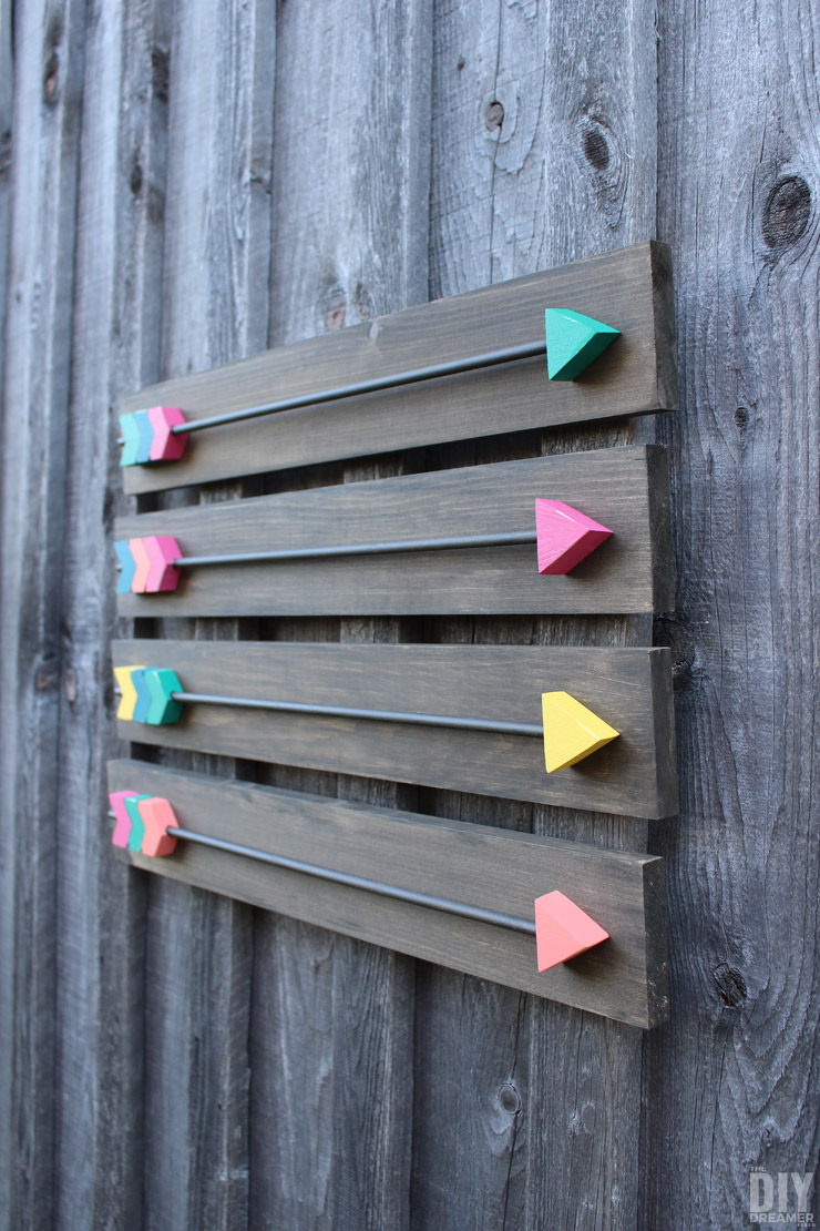Arrow wall decor diy wood arrows wall art for Making wall decorations