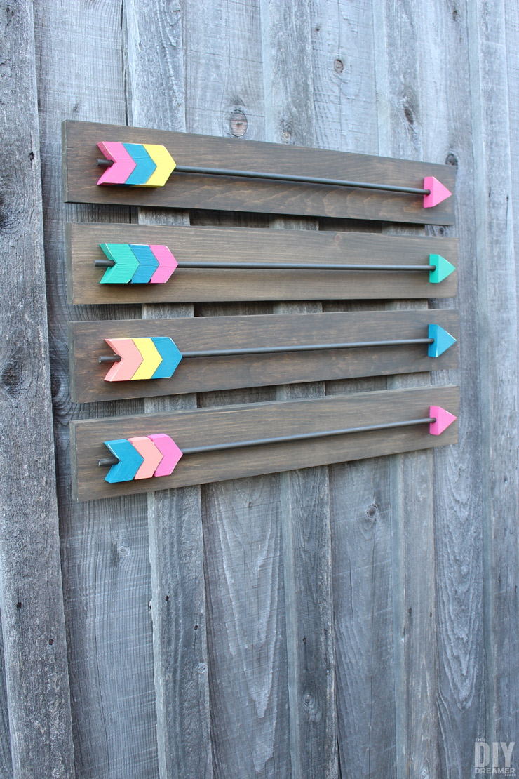 Wall Decoration Making : Arrow wall decor diy wood arrows art
