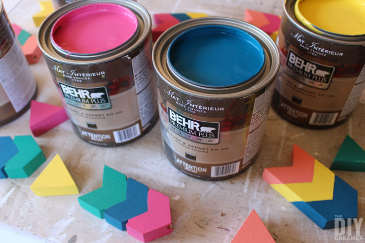 Painted Arrow Pieces with BEHR 2016 Color Trends.