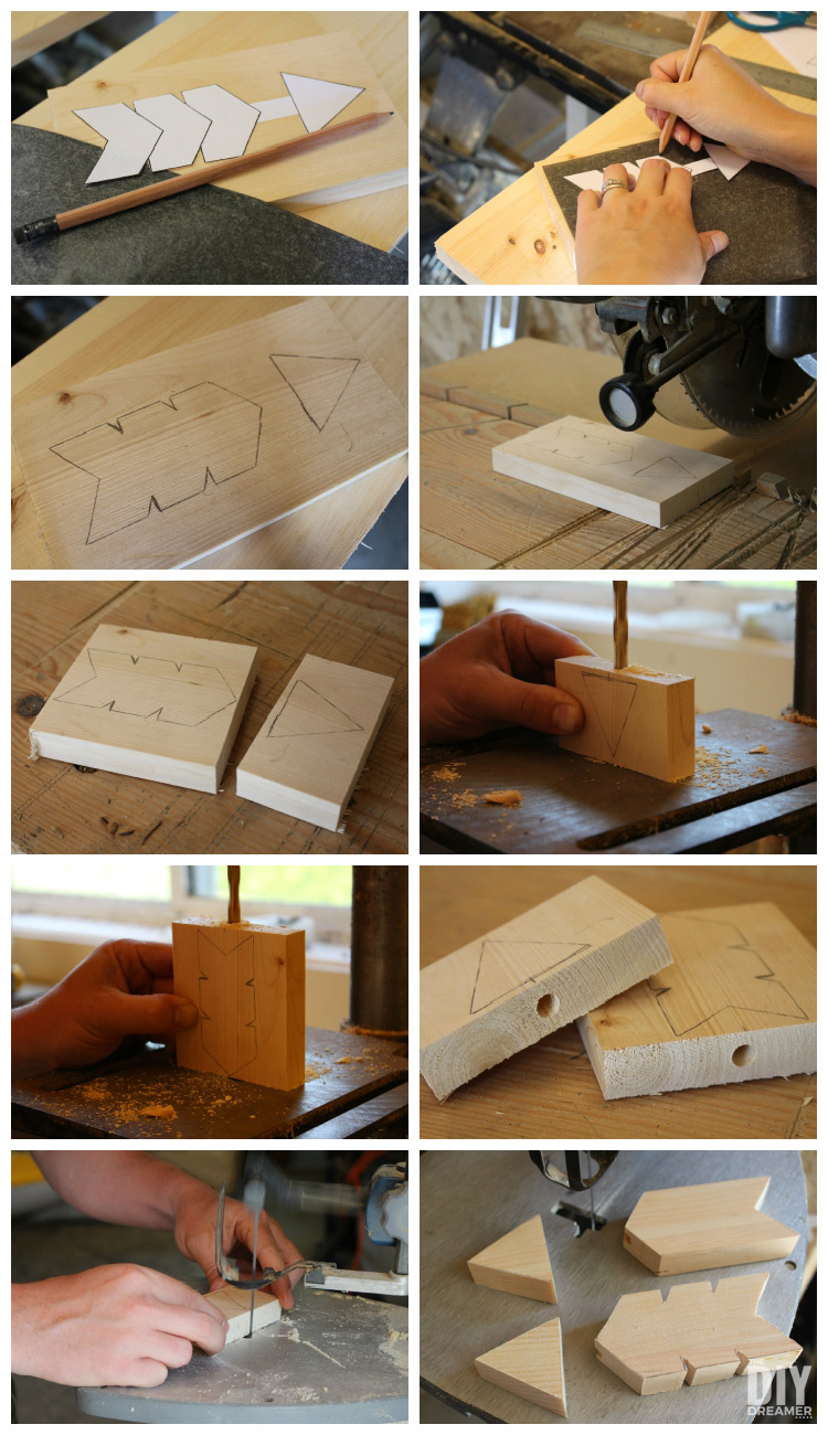 How to cut arrows and fletchings out of wood.
