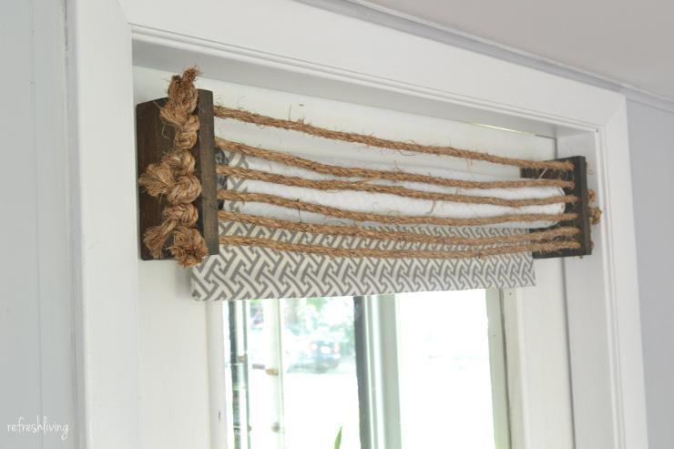 Rustic Rope DIY Valance
