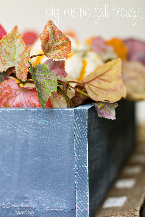 DIY Autumn Trough to fill with Pumpkins - Rustic Halloween