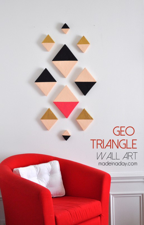 Modern Triangle Geo Wall Art
