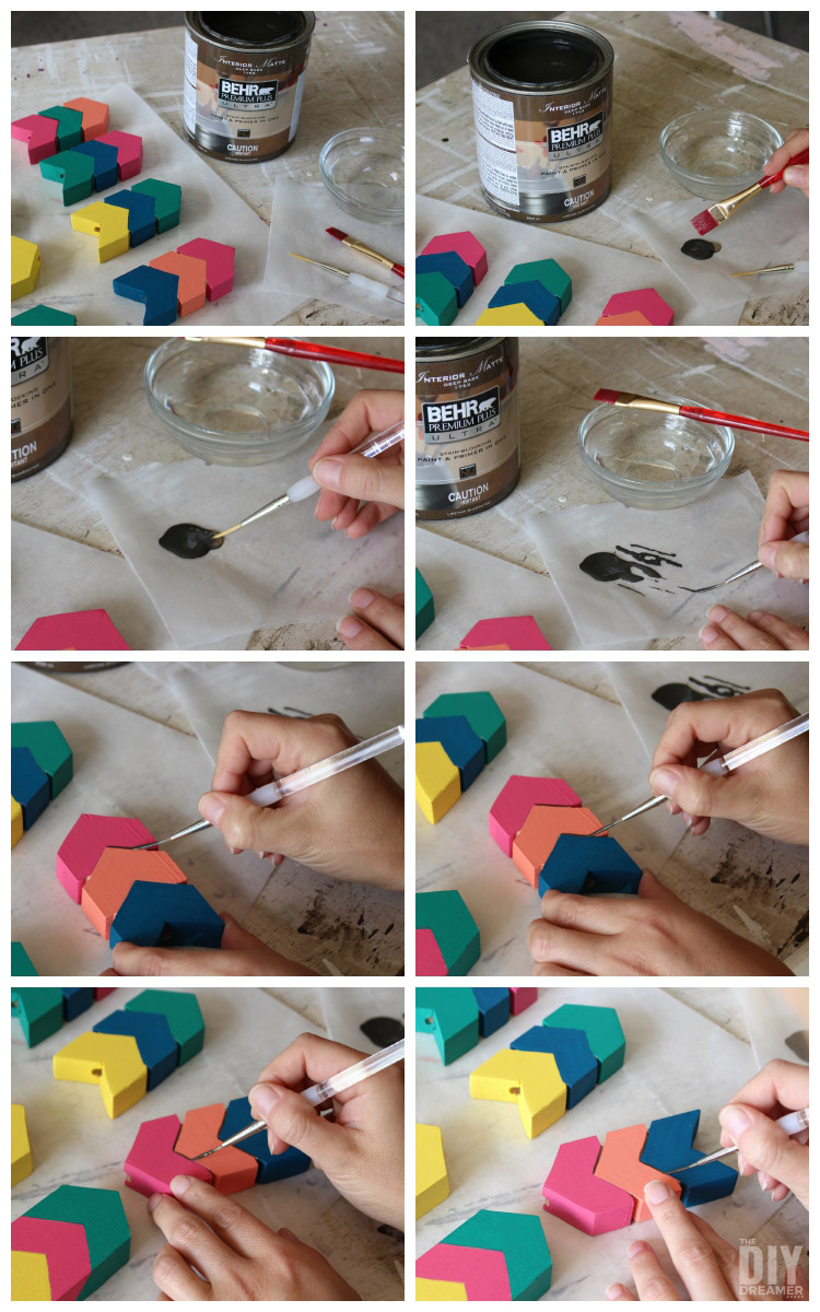 Painting details onto arrows.