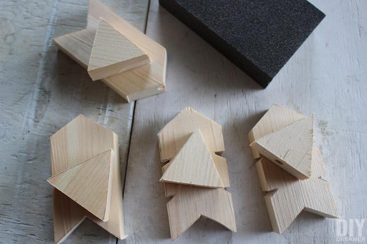 Sanding with sanding block