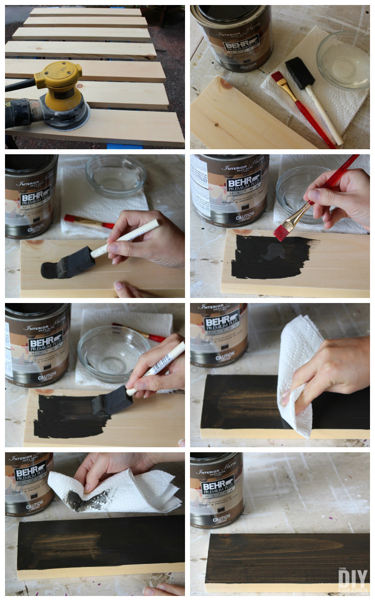 How to stain wood plaques.