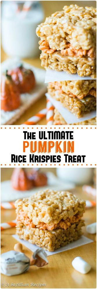 The Ultimate Pumpkin Rice Krispies Treats