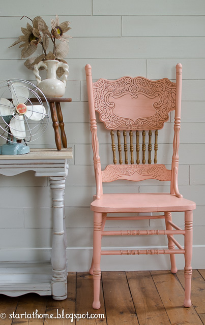 Coral Pressed Back Chair