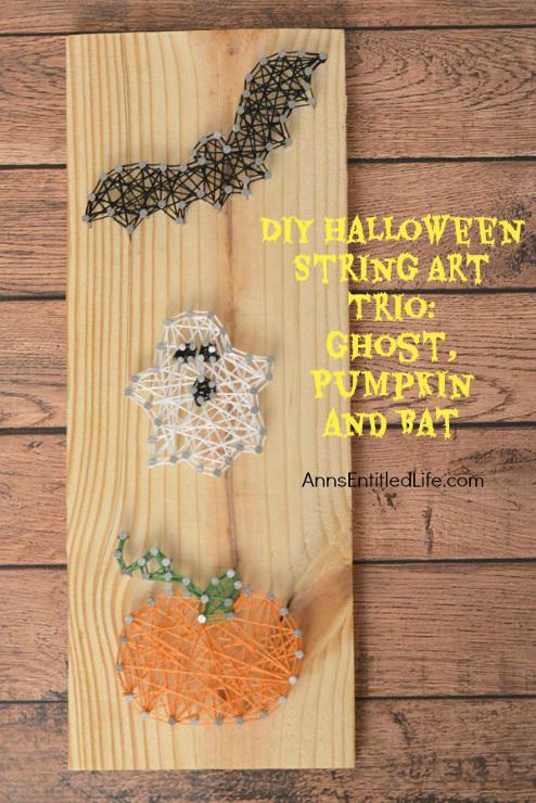 DIY Halloween String Art Trio