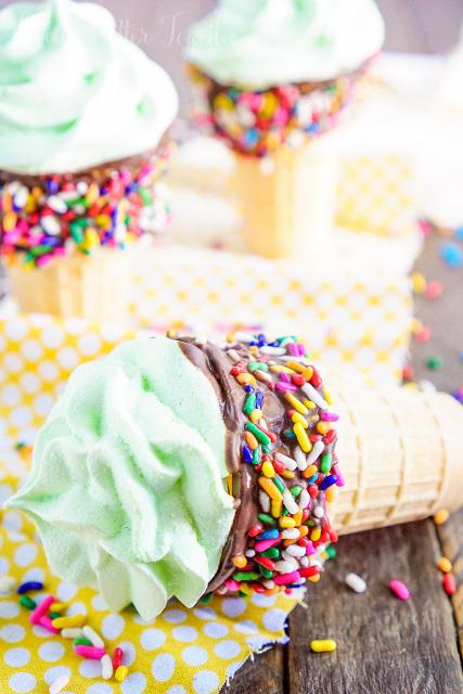 Meringue Ice Cream Cones