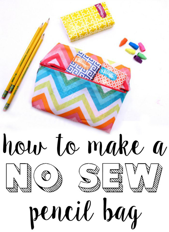 How to make a no sew pencil bag