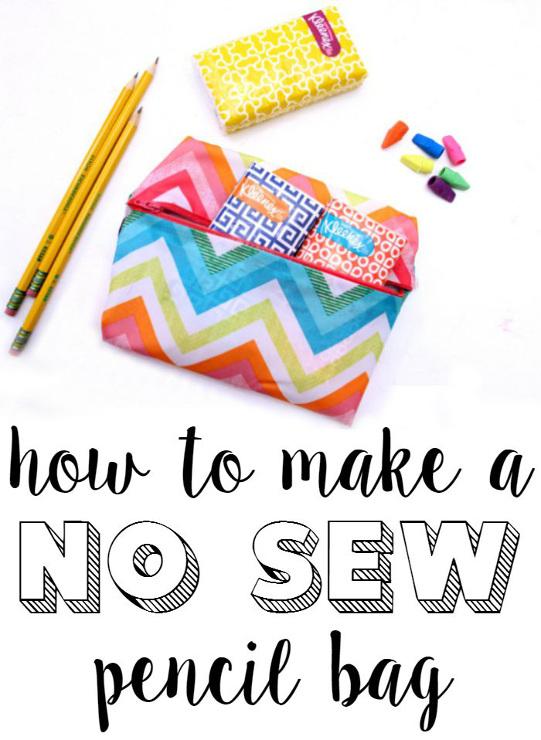 How to make a no sew pencil bag