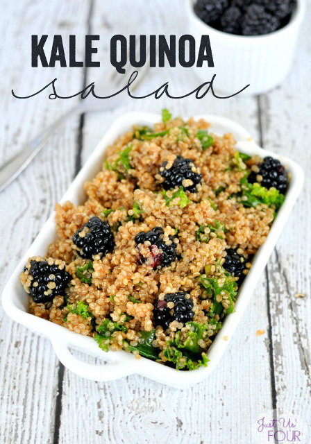 Kale Blackberry Quinoa Salad